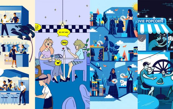 What a cashless society looks like, in four illustrations
