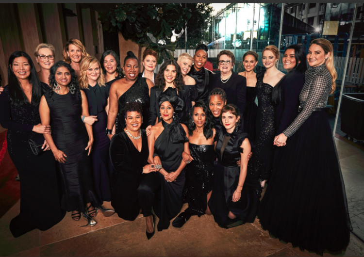 Here's why almost every woman wore black at this year's Golden Globes