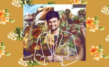 Billy Crawford and the ubiquitous sofa print