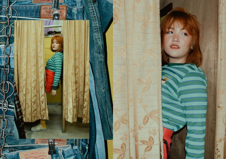 Hop on this colorful thrift shop adventure: a fashion editorial