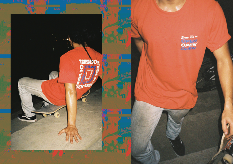 Tetsuo takes on skate apparel in SS'18 look book