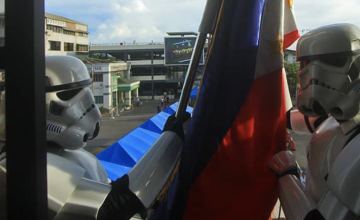 Stormtroopers retreat Philippine Flag in Mandaue City on 'Star Wars day'