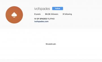 IV of Spades erase traces on social media
