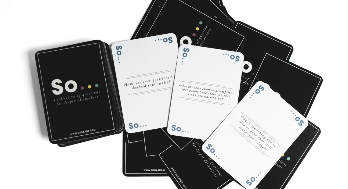 "Let's all play ""So Cards,"" the good twin of ""Cards Against Humanity"""