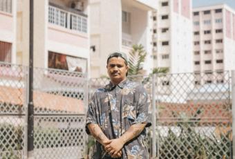 Singaporean beatmaker Fauxe is performing in Makati