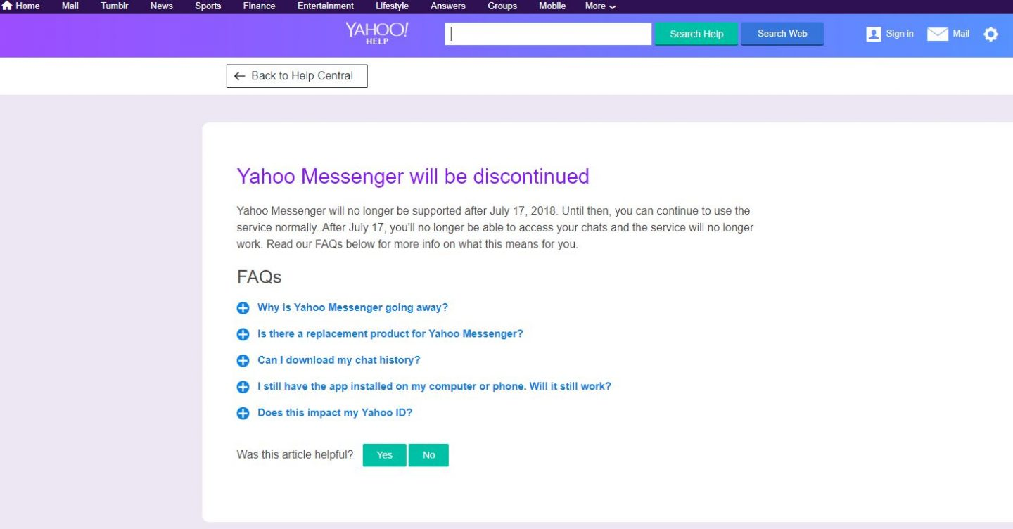 chat on yahoo messenger without downloading