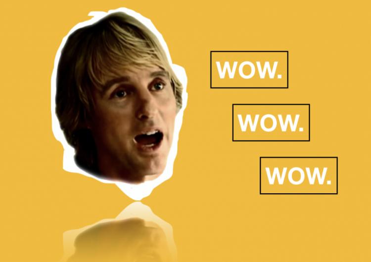 "Ateneans chant Owen Wilson's legendary ""Wow"""