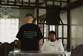 Omphalos' debut clothing collections questions political authority through images