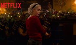 """WATCH: new """"Sabrina"""" Christmas special trailer has devils, Christmas sweaters,…"""