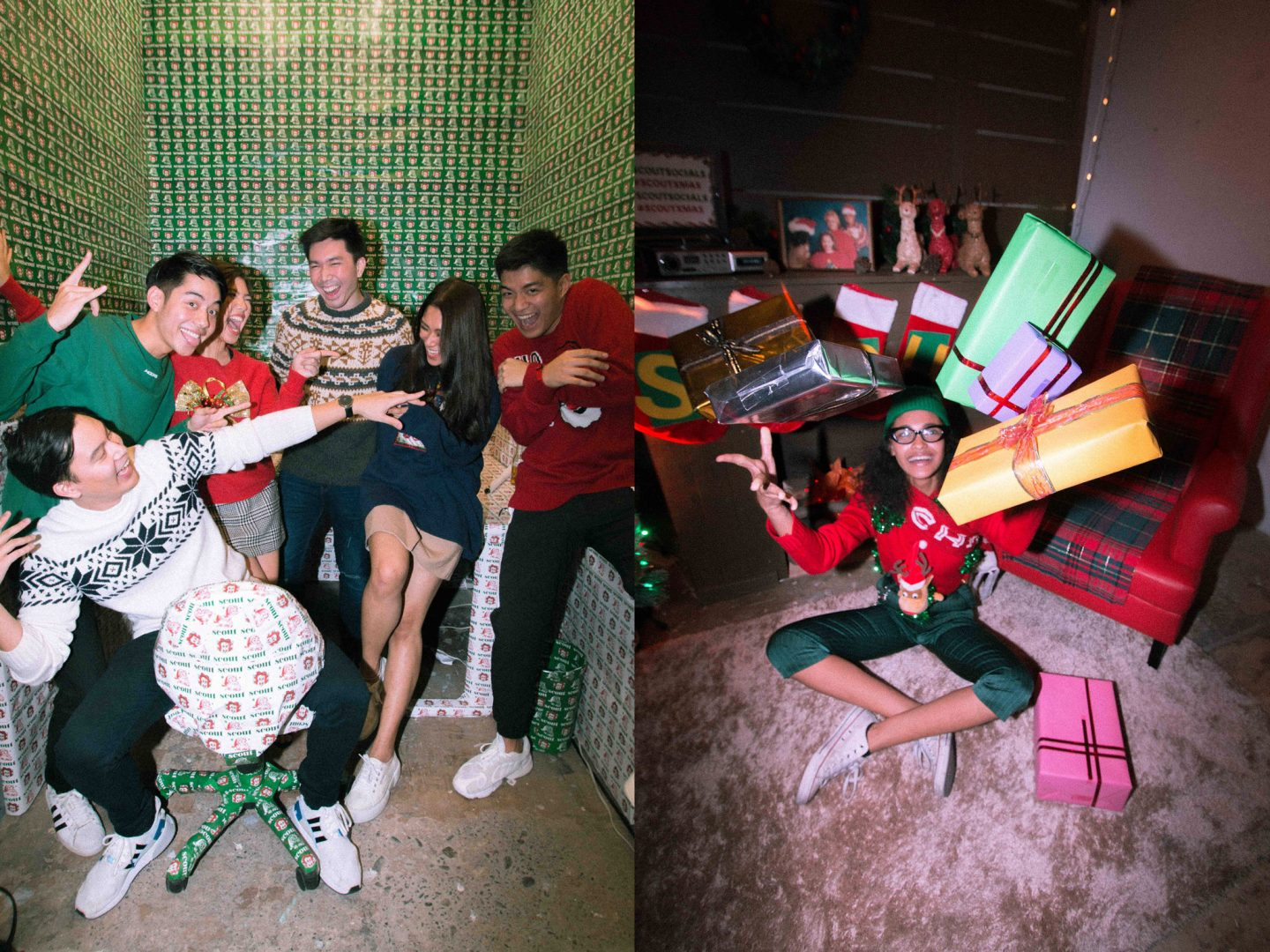 78759bac5a825 We wore ugly Christmas sweaters to our year-ender party - Scout Magazine