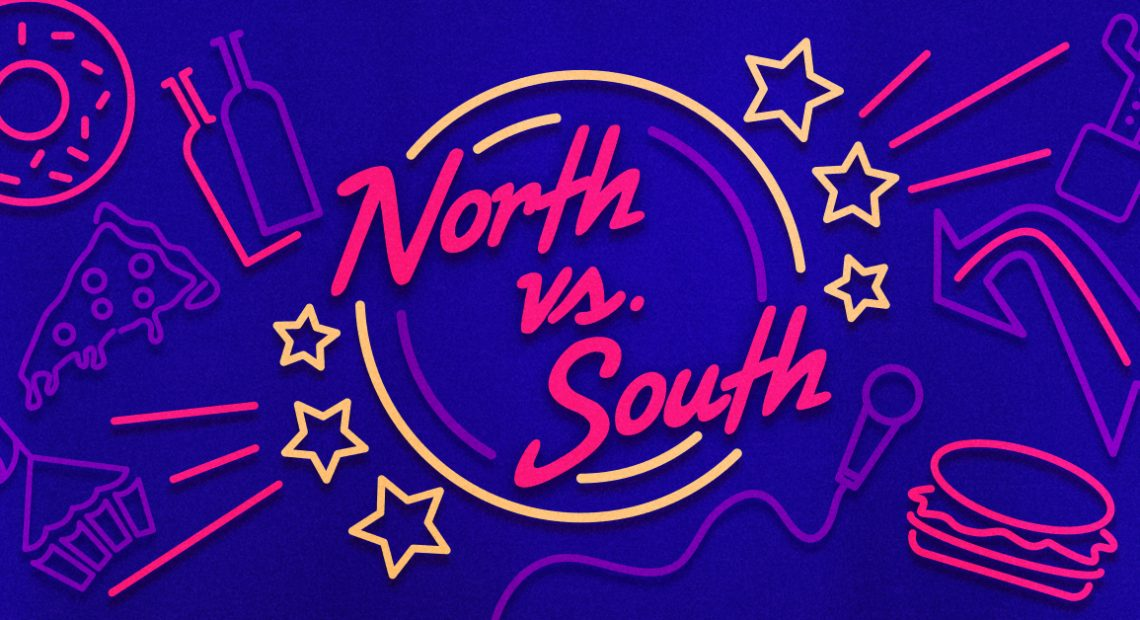 North vs. south: here's how we spent our Friday night