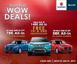 Suzuki Low Downpayment Installment Deals