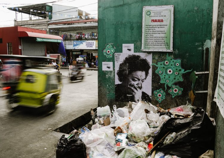 Have you seen these portraits near trash piles in Cavite?