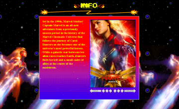 """Captain Marvel"" brings back the '90s aesthetic for promotional website"