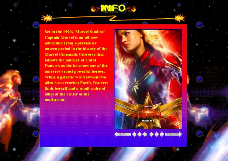 """Captain Marvel"" brings back the '90s aesthetic for promotional website"