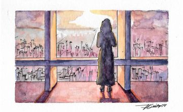 Buy a watercolor postcard and help send this artist to Art Vancouver 2019