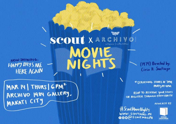 See a free film with us on Thursday at Scout Movie Nights