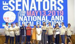 "Nancy Binay and Grace Poe skipping the Duterte ""fist bump""…"