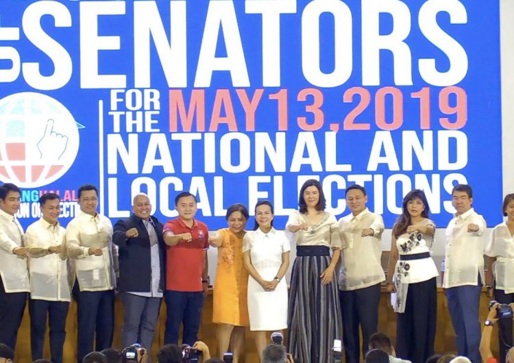 "Nancy Binay and Grace Poe skipping the Duterte ""fist bump"" is a mood"