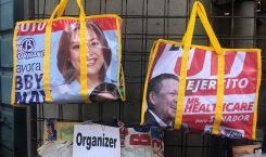 Would you carry a bag with a politician's face on…