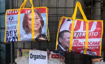 Would you carry a bag with a politician's face on it?