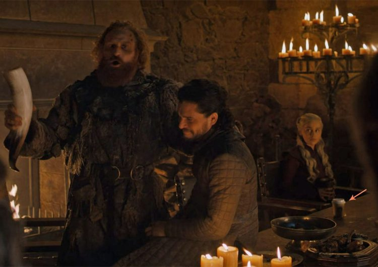 Uh, there's a coffee cup in a Game of Thrones scene