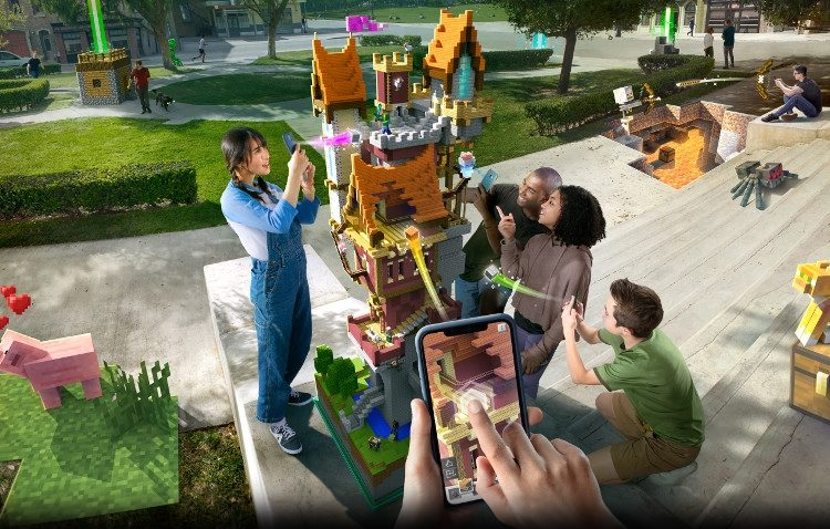 We can now live in Minecraft through their AR game