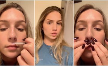 Meanwhile on TikTok, people are super-glueing their lips