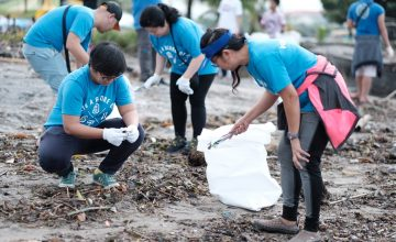 We helped clean Manila Bay, and it was a rewarding experience