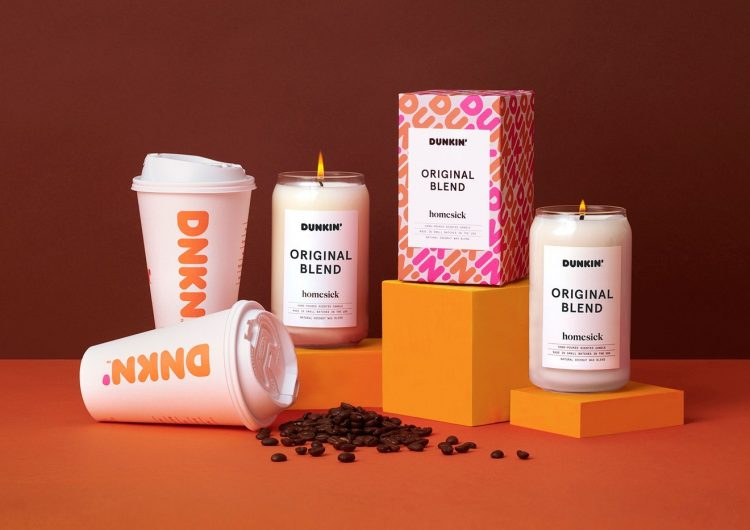 Smell like Dunkin' Donuts coffee with these scented candles