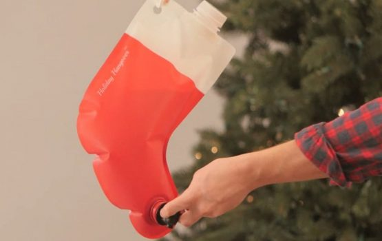 Have a happy holiday with this stocking flask