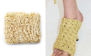This designer slide isn't a ramen shoe, but it looks a lot like one