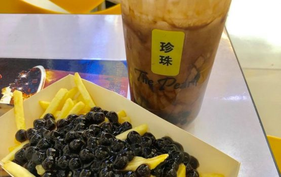 Wait, what? Boba-topped fries are a thing?