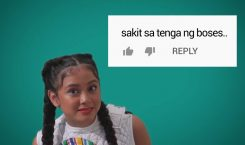 Listen to Ylona Garcia sing hate comments like a real…
