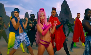 "Neon sci-fi Lady Gaga achieves intergalactic peace in her ""Stupid Love"" MV"