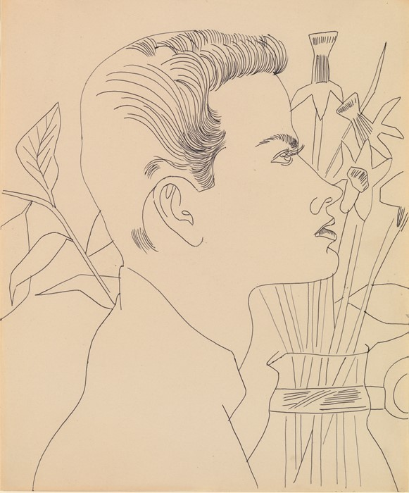 boy with flowers andy warhol