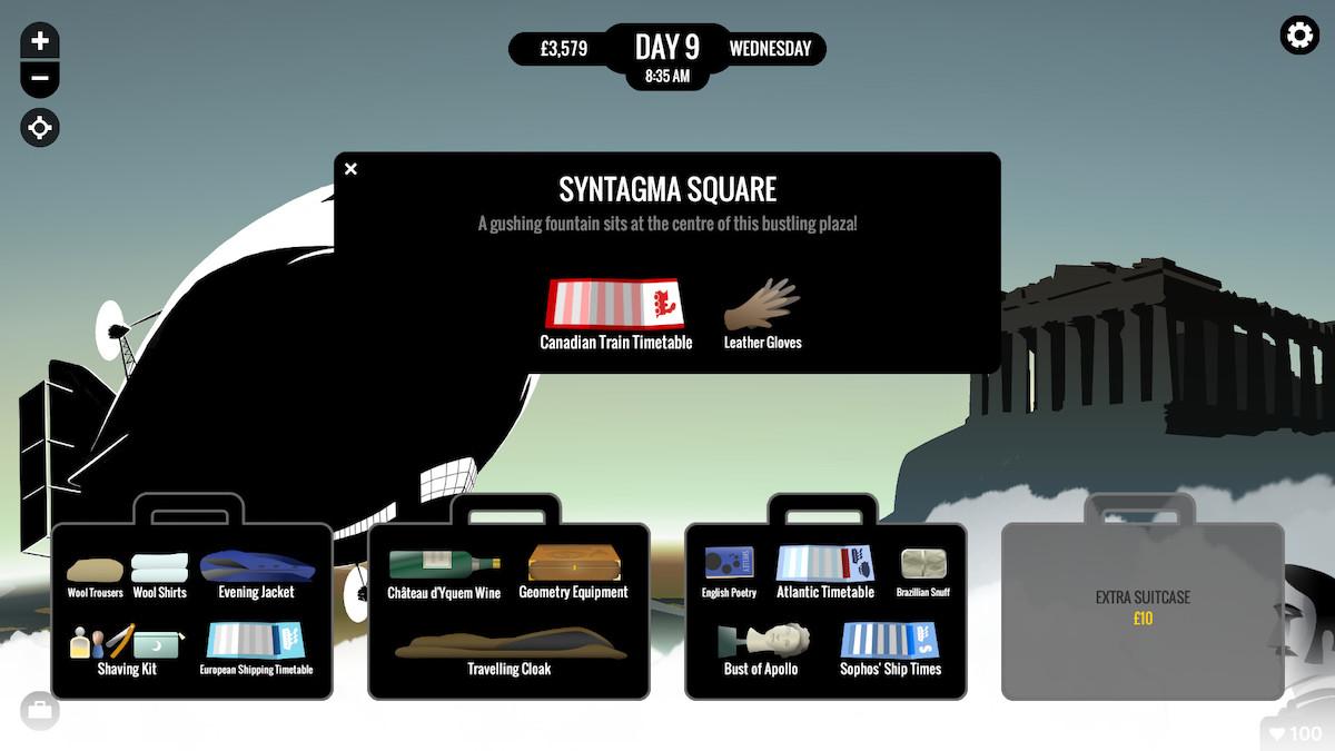 80 days app travel game