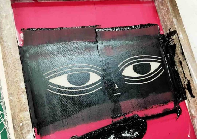 Get your items infested by Garapata with live silk screening at Art In The Park 2020
