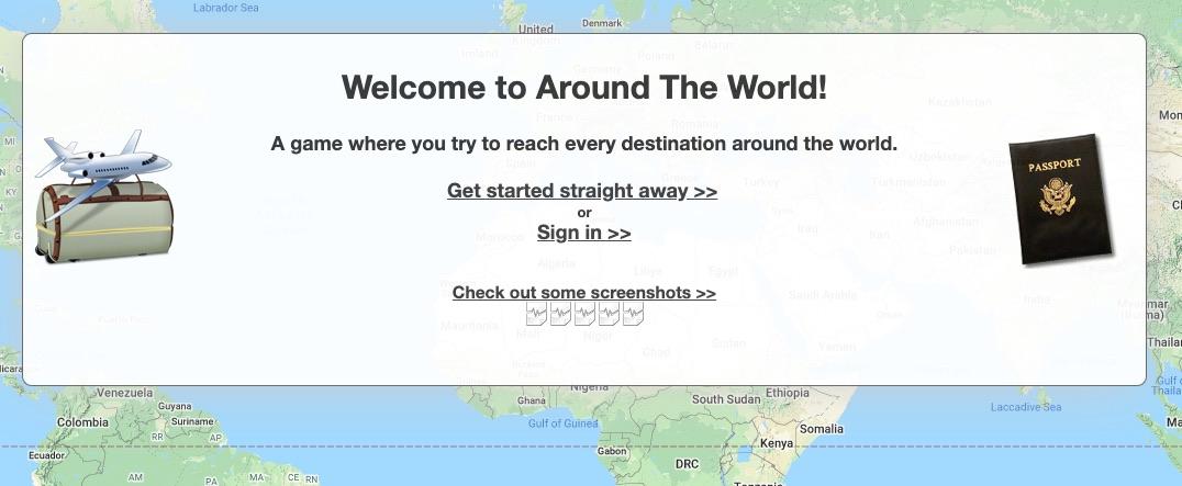 around the world travel game