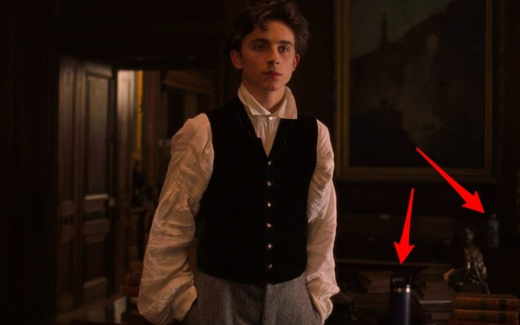 There's a Hydro Flask behind Timothée Chalamet in this 'Little Women' scene