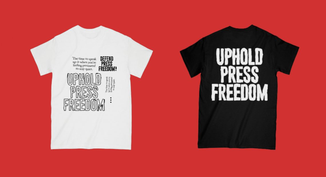This local clothing brand reminds us to defend press freedom
