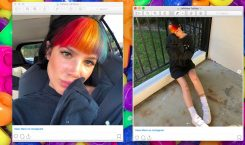 Cutting your bangs is dead, long live rainbow bangs