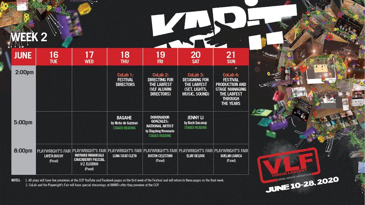 week two schedule virgin labfest