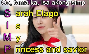 'Simps for Sarah Elago' is a meme I can get behind