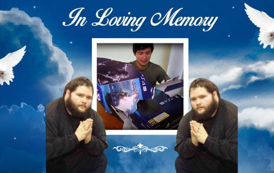In memoriam of Matteo Guidicelli's PS4 box