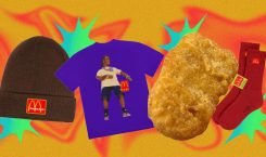 Whoever prayed for chicken nugget-printed tees, Travis Scott heard you