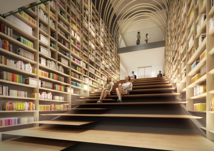 College kids in Japan can hang out at this Haruki Murakami library soon