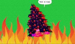 """2020 X-mas mood: Mall Christmas tree burns ft. """"Jingle Bells"""""""