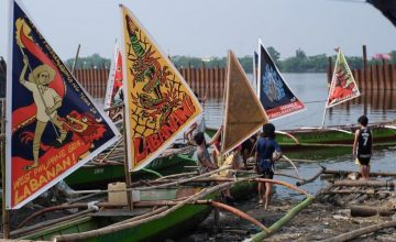 This floating art exhibit is all about fisherfolk rights