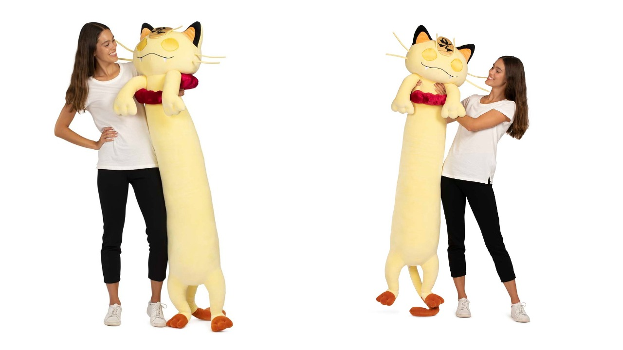 This 5-foot long Meowth plushie will have a better V-day than you 2